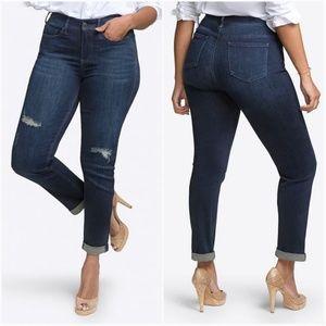 NYDJ Rolled Slim Straight Leg Jeans